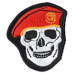 Nášivka LEBKA baret v barvì ÈERVENÉ