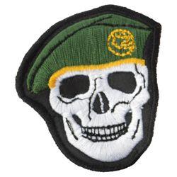 Nášivka LEBKA baret v barvì ZELENÁ
