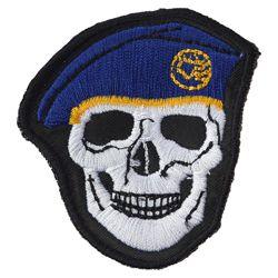 Nášivka LEBKA baret v barvì TMAVÌ MODRÉ