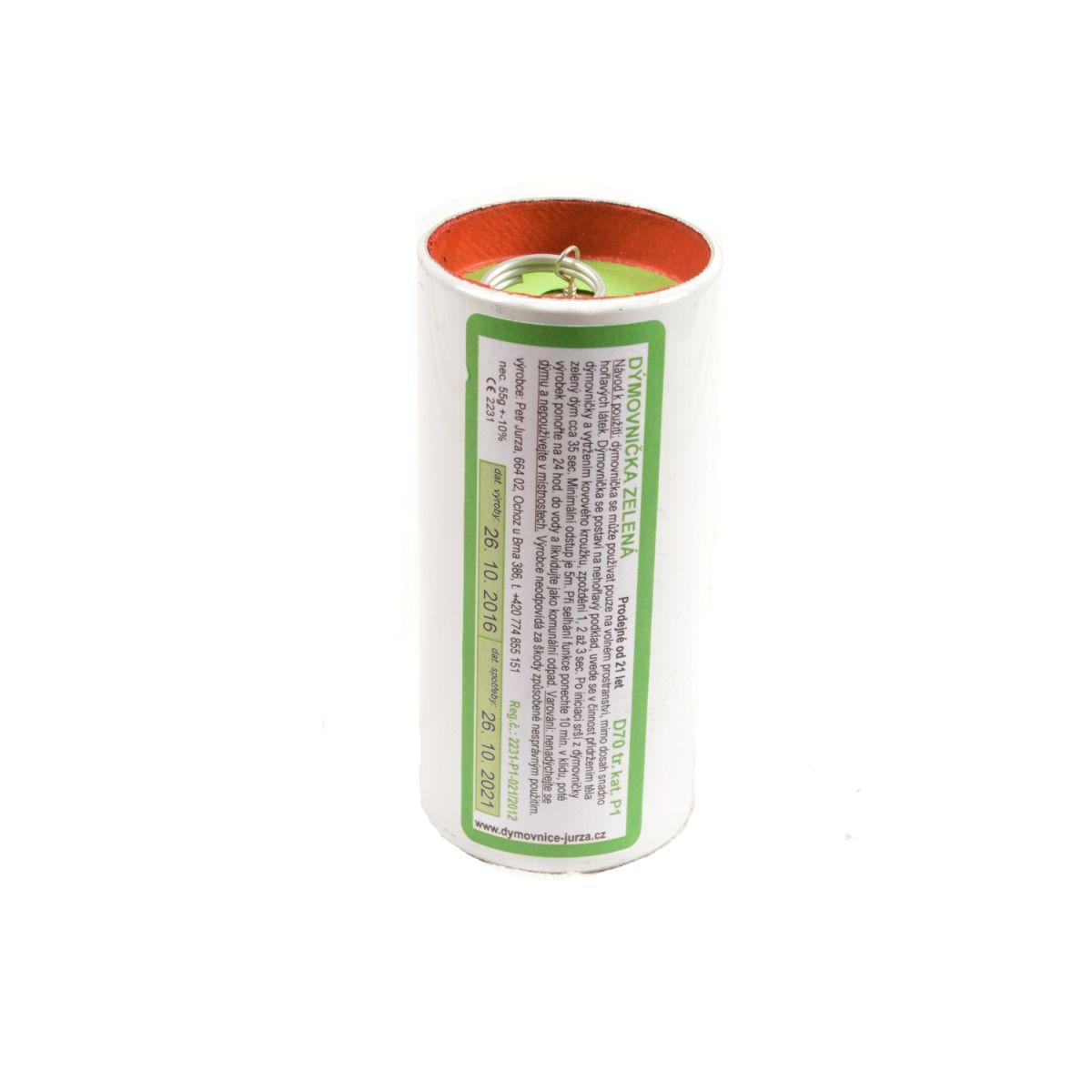 Dýmovnièka D130 trhací ZELENÝ dým