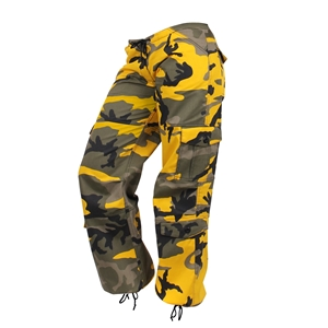 Kalhoty dámské PARATROOPER YELLOW CAMO