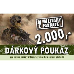 Dárkový poukaz TACTICAL 2000 Kè