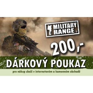 Dárkový poukaz TACTICAL 200 Kè