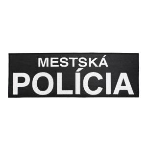 Nášivka MESTSKÁ POLÍCIA velká velcro ÈERNÁ