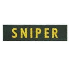 Nášivka SNIPER - ÈERNÁ se žlutou nití