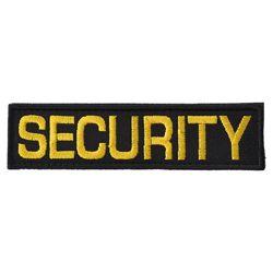 Nášivka SECURITY - ÈERNÁ se žlutou nití VELCRO