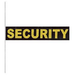 Nášivka SECURITY velká ÈERNÁ se žlutou nití VELCRO