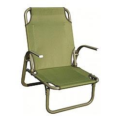 Židle armádní KIRKIN nízký posez ZELENÁ