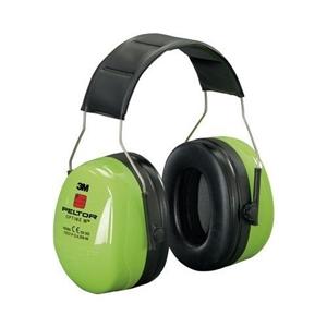 Sluchátka proti hluku PELTOR Optime III REFLEXNÍ ZELENÁ