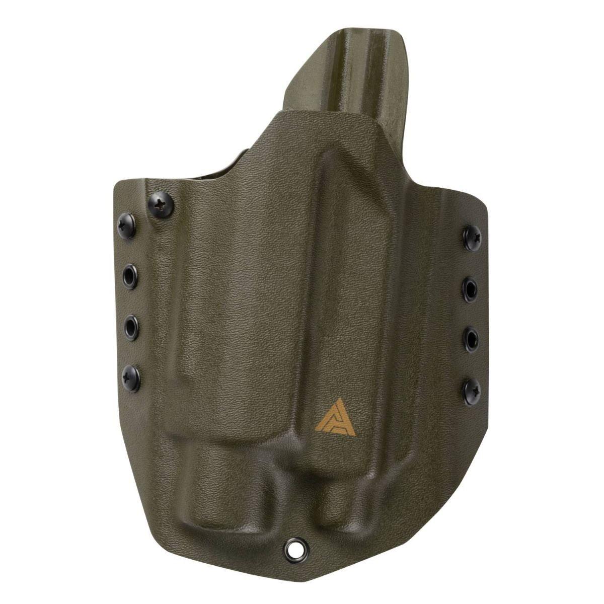 Pouzdro pistolové OWB G17 se svítilnou KYDEX OLIVE DRAB