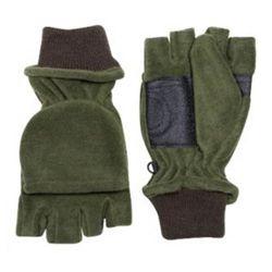 Rukavice fleece SHOOTERS kombi s výstuží ZELENÉ