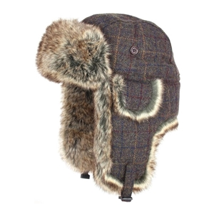 Beranice WOOL TRAPPER Brown Check