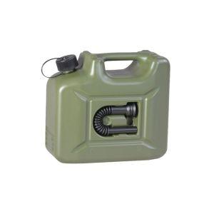 Kanystr palivový plastový s nálevkou 10 litrù ZELENÝ