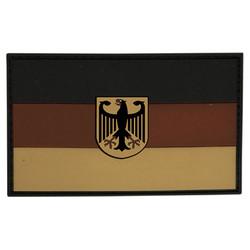Nášivka vlajka NÌMECKO s orlicí plast DESERT velcro