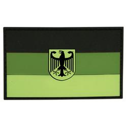 Nášivka vlajka NÌMECKO s orlicí plast ZELENÁ velcro