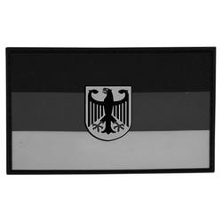 Nášivka vlajka NÌMECKO s orlicí plast ŠEDÁ velcro