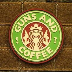 Nášivka GUNS AND COFFEE plast MULTICAM®