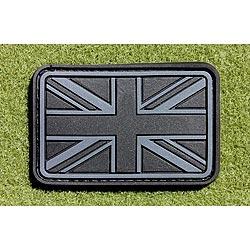Nášivka vlajka velká BRITÁNIE velcro plast ÈERNÁ