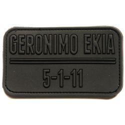Nášivka GERONIMO EKIA 5-1-11 plast ÈERNÁ