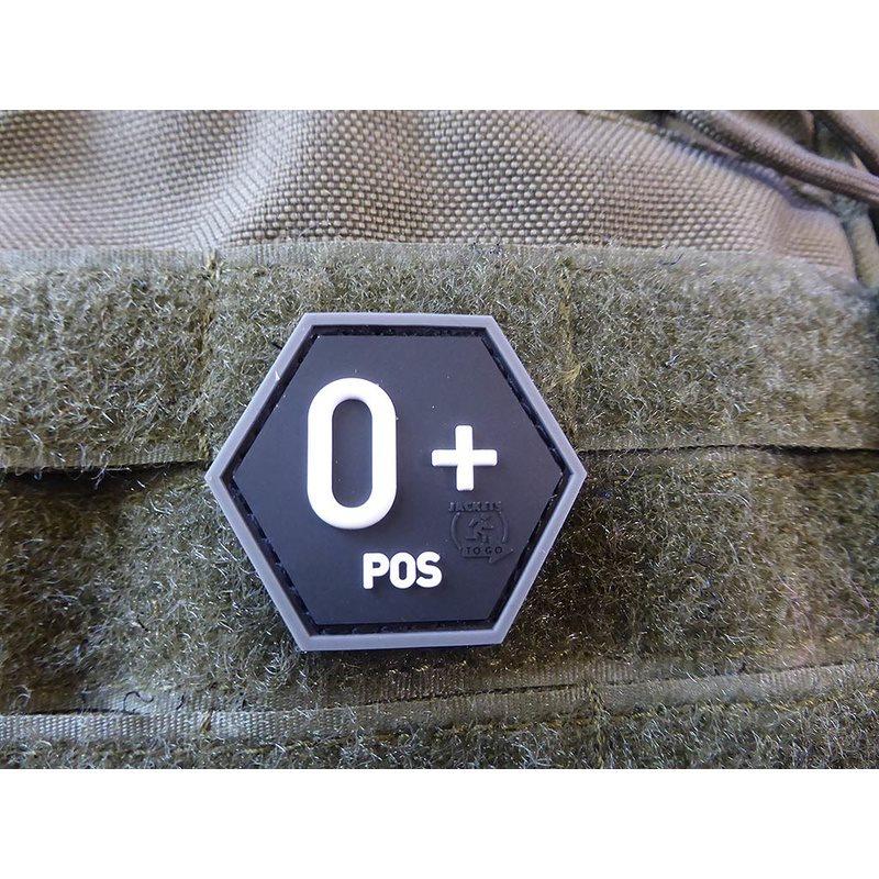 Nášivka hexagon krev 0 POS plast ÈERNÁ SWAT