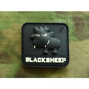 Nášivka LITTLE BLACKSHEEP plast GLOW IN THE DARK - zvìtšit obrázek