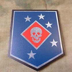 Nášivka USMC Raider plast barevná VELCRO