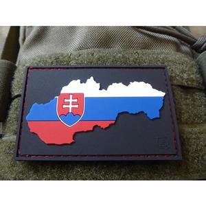 Nášivka vlajka/mapa SLOVENSKO plast velcro BAREVNÁ