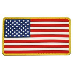 Nášivka vlajka USA plast barevná VELCRO
