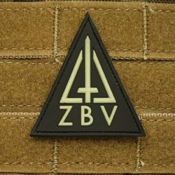 Nášivka MILITARY POLICE ZBV TRIANGLE plast GLOW IN THE DARK