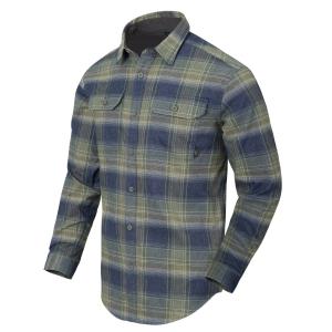 Košile GREYMAN dlouhý rukáv BLAST BLUE PLAID