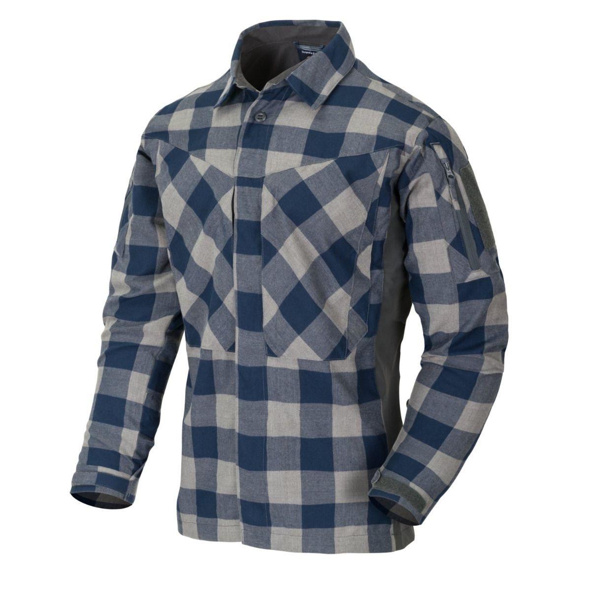 Košile MBDU flanel SLATE BLUE CHECKERED