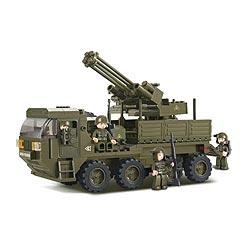 Stavebnice protileteckého vozidla s kanónem