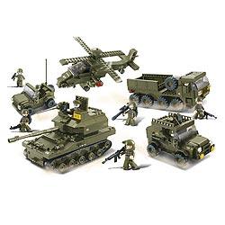 Stavebnice sada 5ks vojenské techniky