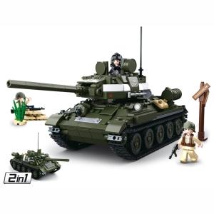 Stavebnice SOVÌTSKÝ TANK T-34/85 2v1