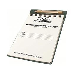Blok/zápisník vodìodolný, vèetnì tužky a podložky, 25 listù