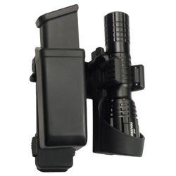 Pouzdro rotaèní MOLLE pro zásobník 9mm LUGER a svítilnu