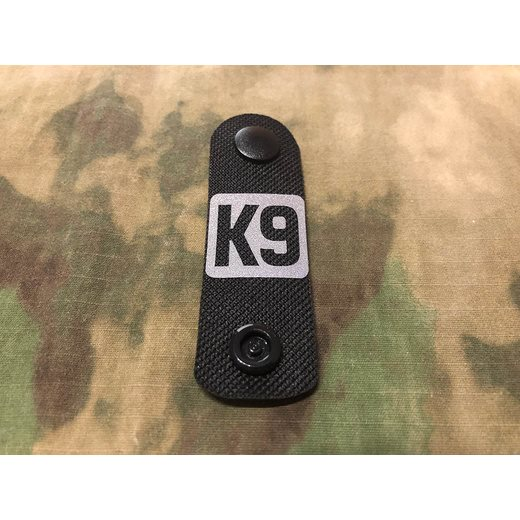 Pásek MOLLE identifikaèní K9 reflexní ÈERNÝ