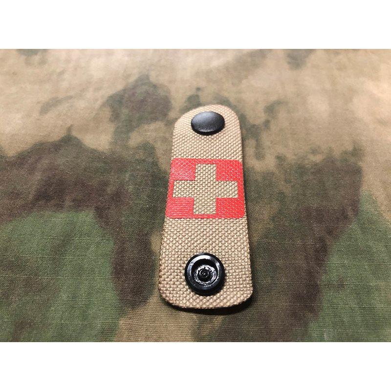 Pásek MOLLE identifikaèní MEDIC IFAK TAN/ÈERVENÝ