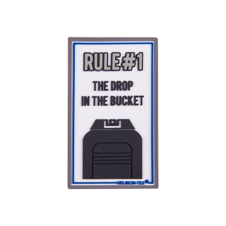 Nášivka RULE#1 velcro plastová