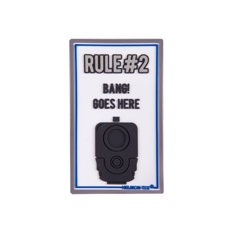 Nášivka RULE#2 velcro plastová