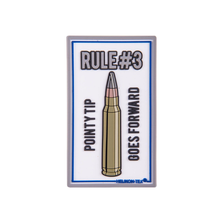 Nášivka RULE#3 velcro plastová