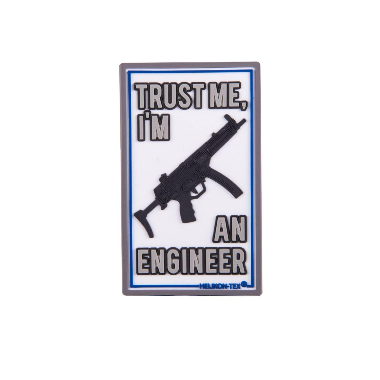 Nášivka TRUST ME IM AN ENGINEER velcro plastová