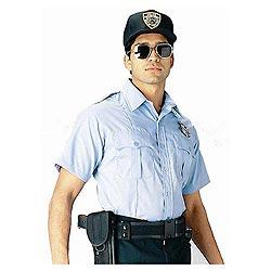 Košile POLICIE A SECURITY krátký rukáv SV.MODRÁ