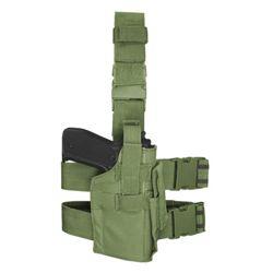 Pouzdro pistolové stehenní MOLLE ZELENÉ