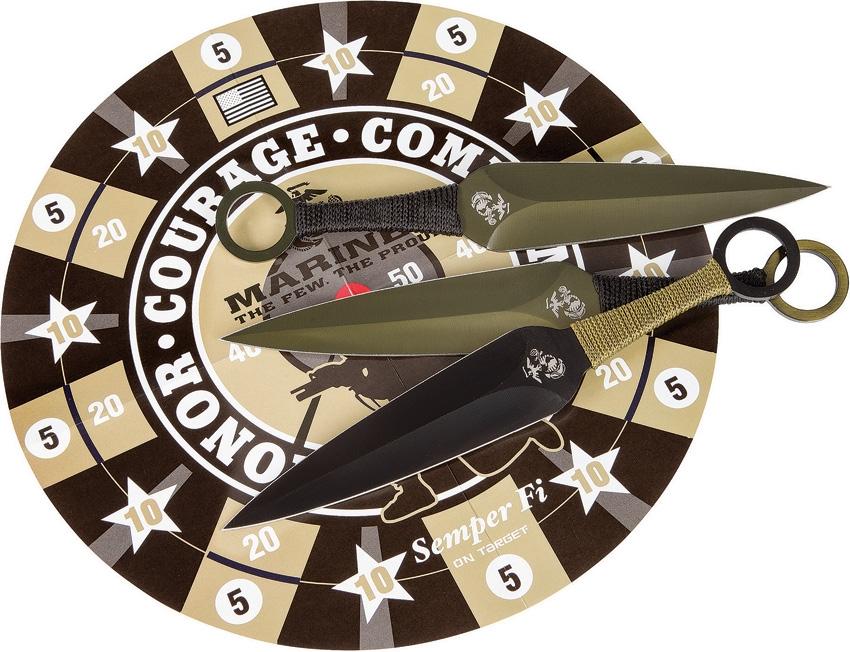 Nože vrhací USMC sada 6 kusù s terèem