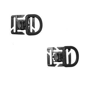 Adaptér MOLLE D-kroužek otoèný 2 kusy ÈERNÝ