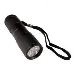 Svítilna 9 LEDs Warrior hliník ÈERNÁ 9cm